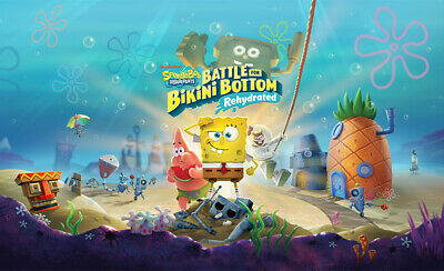 SpongeBob SquarePants: Battle For Bikini Bottom Game Art Print Poster Wall Decor • 11.99£