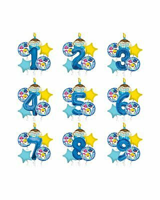$12.99 • Buy Baby Shark Happy Birthday Balloon Bouquet, Shark Party Balloons (6 Balloons)