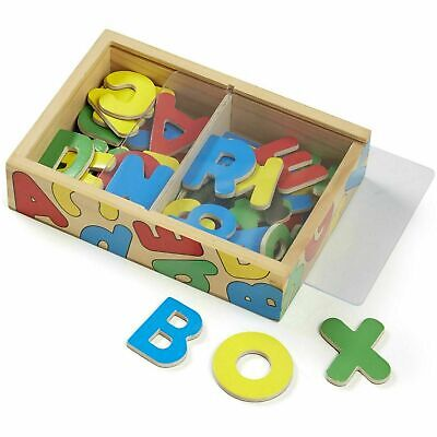 Melissa & Doug Wooden Letter & Alphabet Magnets In Box, Promotes Recognition, 3+ • 11.08£
