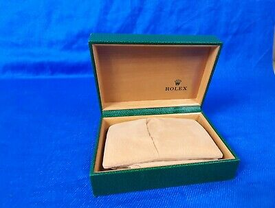 $ CDN68.03 • Buy Vintage Rolex Presentaion Box Green Leather With Imitation Wood Interior
