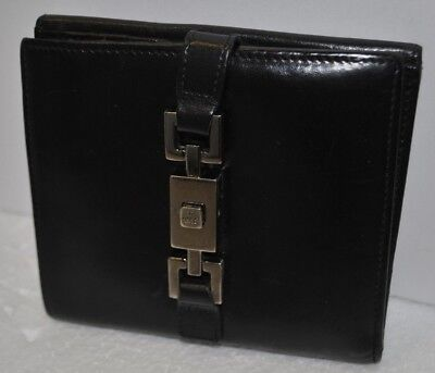 $110.31 • Buy Vintage Gucci Jackie Womens Black Leather Clasp Bi-Fold Wallet With Coin Purse