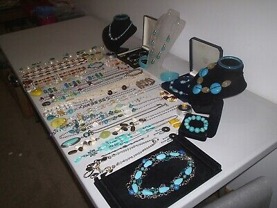 Large Job Lot Of Vintage & Costume Jewellery Necklaces Bracelets Earrings (m) • 9.99£