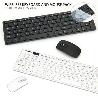 AU21.29 • Buy Wireless Optical Mouse And Keyboard For PC Laptop Win7/8/10 Slim Cordless
