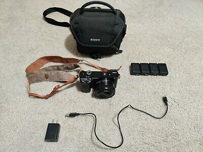 $ CDN544.79 • Buy Sony A6000 24.7MP Camera With Extra Batteries, 16-50mm Lens, Charger And Bag