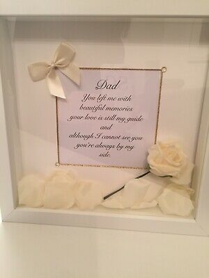 Memorial Gift Frame, Mum, Dad Nan, Grandad ..send In Sympathy. 3D Box Frame • 20£