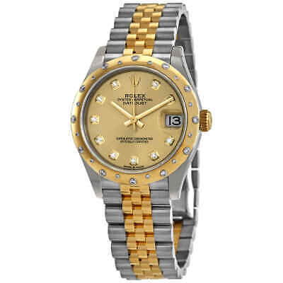$ CDN21308.16 • Buy Rolex Datejust 31 Champagne Diamond Dial Automatic Ladies Steel And 18kt Yellow