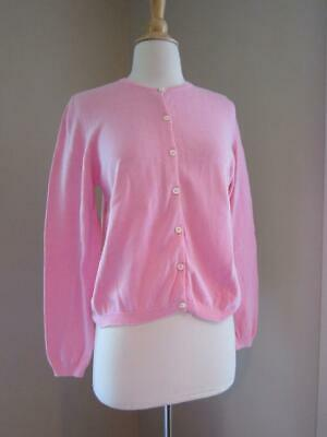 $12.99 • Buy LILLY PULITZER Pink Cotton Button Front Cardigan Sweater Size Small