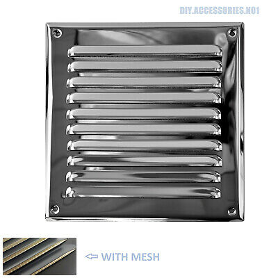 STAINLESS STEEL 250x250 Mm Metal Louvre Air Vent Grille Cover Metal Ventilation • 9.99£