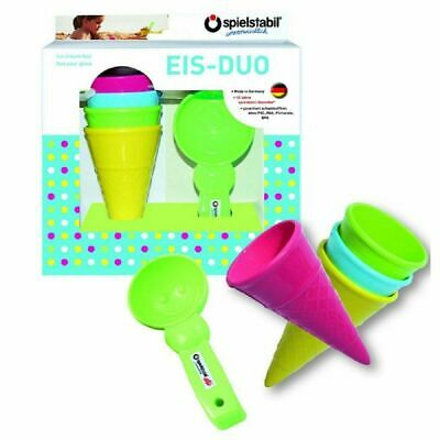 Spielstabil Sand Toys Eis-Duo IN Gift Box 4 Ice Cream Cones + 1 Portion Holder • 31.18£