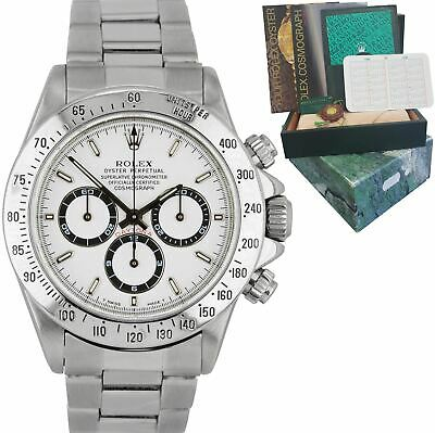 $ CDN25188.58 • Buy RARE 1996 Rolex Daytona Zenith Movement White 40mm Stainless Steel Watch 16520