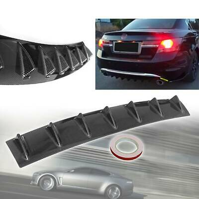 $26.44 • Buy Carbon Fiber Look Rear Bumper Diffuser 7Fin Spoiler Lip Wing Splitter Universal