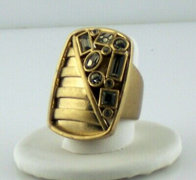 $ CDN11.02 • Buy Lia Sophia Ring Red Carpet Gold Size 8 New With Tags 1-1/4  Long Width 7/8