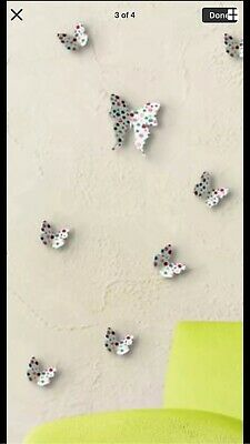 20 Pieces 3D Colour Dot Butterfly 🦋 Wall Stickers Decal Home Bathroom Decor DIY • 1.50£