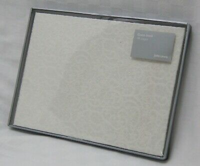 New John Lewis 48 Page Ivory Lace Wedding Guest Book RRP £18.00 • 9£