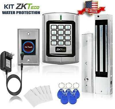 AU195.32 • Buy KiT Door Access Control System Zkteco Magnetic Lock, Access ID Card Password. Zk