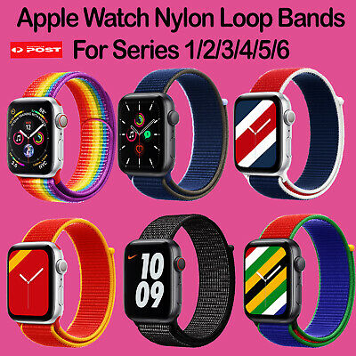 AU8.99 • Buy For Apple Watch Band Series 6/5/4/3/2/1 Nylon Woven Sport Strap Bands 38-44mm AU