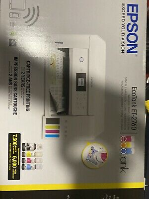 View Details Epson 946202 ECOTANK All-in-One Wireless Color Printer - White • 51.00$