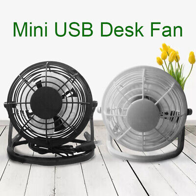 AU7.99 • Buy USB Rechargeable Desk Fan Small Quiet Cooler Home Office Personal Table Fan Mini