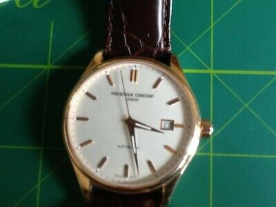 $731.87 • Buy Frederique Constant Automatic18k Rolled Rose Gold Plate In Near Mint Condition.