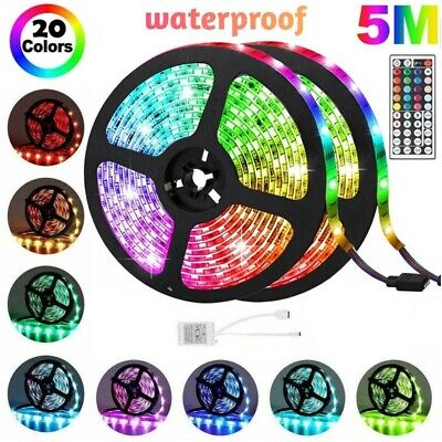 $10.29 • Buy New Flexible 3528 RGB LED SMD Strip Light Remote Fairy Lights Room TV Party Bar