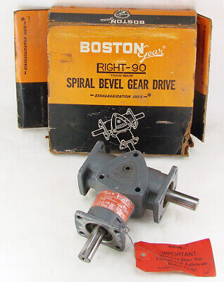 $99.95 • Buy Boston Gear Right-90 R1021 Right Angle Spiral Bevel Gear Drive 1:1 Ratio NOS