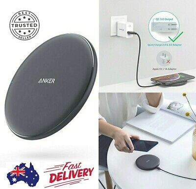 AU34.98 • Buy Anker Fast Wireless Charger PowerWave Pad Upgraded 10W Max Qi-certified AU Stock