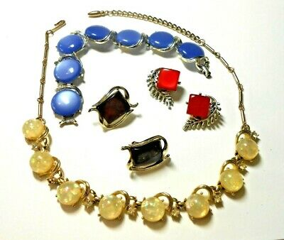 $ CDN13.59 • Buy Lot Of 4 Pieces Of Moonglow & Confetti Lucite Jewelry - Coro - Lisner Circa 1960