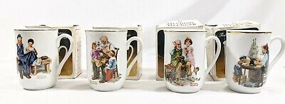 $ CDN79.08 • Buy NORMAN ROCKWELL MUSEUM PORCELAIN COLLECTOR MUGS 1982 Complete Set