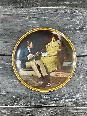 """$ CDN15.04 • Buy Norman Rockwell """"Rediscovered Women"""" Pondering On The Porch Plate (1982)"""