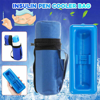 Medicine Cooling Pouch Diabetic Insulin Travel Cooler Case Ice Pack Bag Pill RA • 18£
