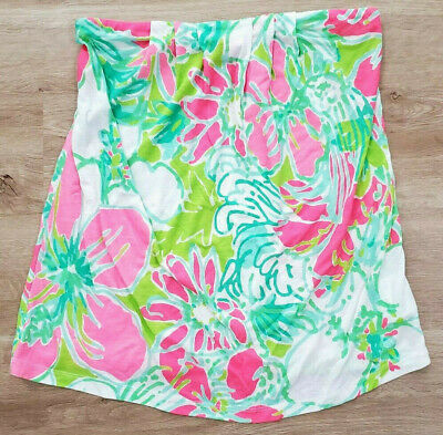 $29.99 • Buy Lilly Pulitzer Womens Shirt Size Medium Tyra Strapless Printed Tube Top