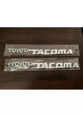 $32.85 • Buy TOYOTA TACOMA 95-04 FRONT DOOR PLATE BADGE    2 Pc