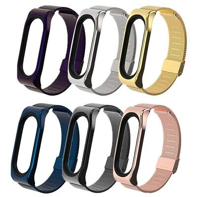 $7.95 • Buy Stainless Steel Case Watch Band Wrist Strap Replacement For Xiaomi Mi Band 3/4