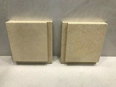 Tiger Vermiculite Stove Side Fire Brick Replacement (1 Pair) • 15£