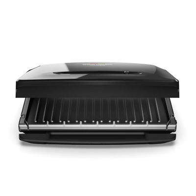 Electric Indoor Grill And Panini Press 8 Serving Removable Plate Black Fast Heat • 66.33£