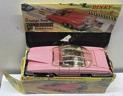 """DINKY TOYS 100 . """"Lady Penelope's Fab 1"""" GOOD WITH BOX & INNER STAND  • 220£"""