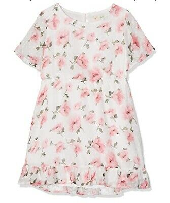 Yumi Girl's Dobby Floral Bell Sleeve Dress (Multi) Size 9-10 Years {Z138} • 11.52£