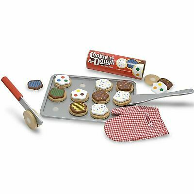 Melissa & Doug Slice & Bake Cookie Dough Set, Wooden Pretend Play Food - Age 3+ • 16.28£