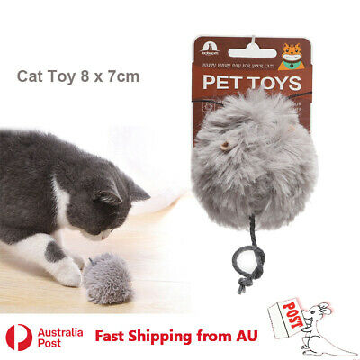AU12.99 • Buy Cat Play Toy Fur Wind-up Clockwork Move Mouse Kitten Pet Interactive Fun Cute