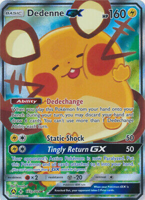 AU15.50 • Buy Pokemon SM10 Unbroken Bonds Dedenne GX 195a Alternate Art Full Art Promo Card