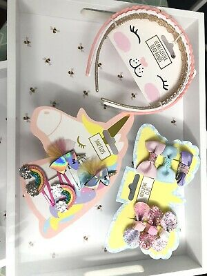 AU17.77 • Buy Girls-Hair-Accessories-Headband-Bows-Clips-Unicorn-Rainbow