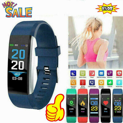 AU8.49 • Buy Fitness Smart Watch Heart Rate Monitor Tracker Women Men For Android IOS M1Q7