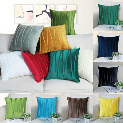 13 Color Soft Modern Smooth Thick Polyester Deco Throw Pillow Case Cushion Cover • 8.49£