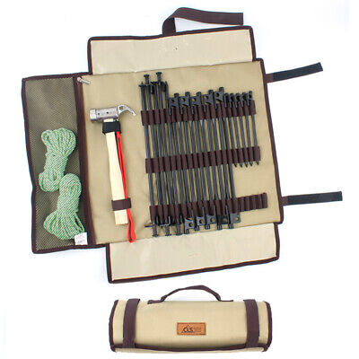 AU19.82 • Buy Heavy Duty Tent Accessories 1680D Hammer Wind Rope Tent Pegs Nail Storage Bag AU