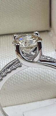 Gorgeous 18ct White Gold 1.50 Carat Old Cut Diamond Solitaire Ring • 700£