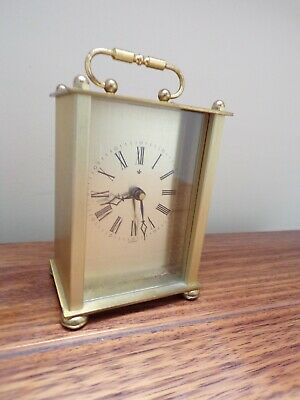 Brass Carriage Clock - Germany - Quartz - Battery Operated • 1.99£