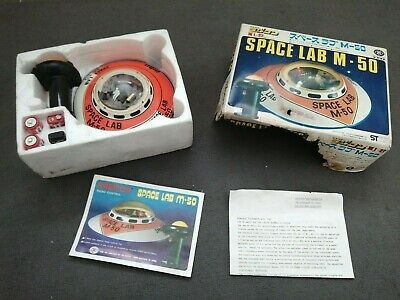 Space Lab M-50 Made In Japan Boxed 1970s Retro Tin UFO Toy • 69.99£
