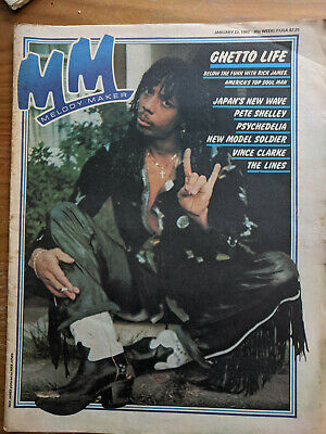 Melody Maker January 3rd 1982 Rick James, Pete Shelley, Psychedelic Revival • 3.49£
