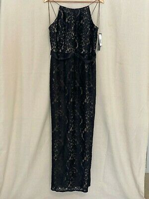 $21.99 • Buy New With Tag Aidan Mattox Size 12 Long Black Dress MSRP $395