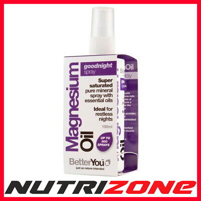 BetterYou Magnesium Oil Goodnight Spray For Restless Nights Tension Relief 100ml • 14.99£